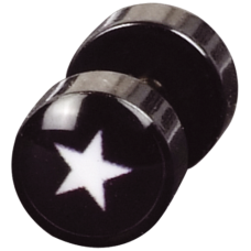 Steel Blackline® - White Star Mini Fake Plug