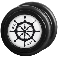 Wildcat® Black´n´White - Sailor Wheel black/white Fake Plug