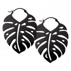 Steel Blackline® - Monstera Leaf Hoops