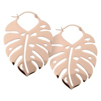 Steel Roseline® - Monstera Leaf Hoops