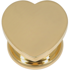 Steel Basicline® - Gold Heart Screw Front Tunnel