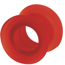 Silicone Flesh Tunnel Red