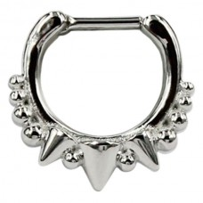 Steel Basicline® – Spiked Septum Silver