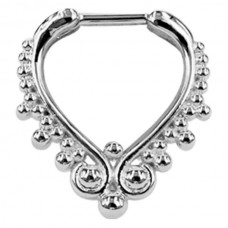 Steel Basicline® -Wonderland Septum Silver