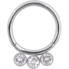 Steel Basicline® Jewelled Scharnier Segmentring