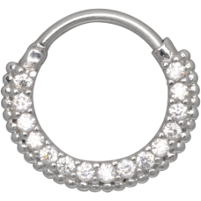 Steel Basicline® - Hinged Oriental Septum crystal clear