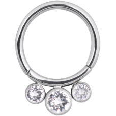 Steel Basicline® Big Jewelled Scharnier Segmentring