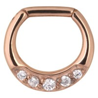 Steel Roseline® -  Jewelled Hinged Septum